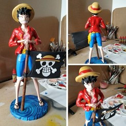 monkey d luffy 3D printed.jpg Download free STL file Monkey D Luffy • 3D printing object, BODY3D