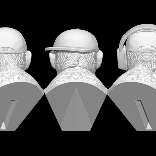 z1.png Télécharger fichier STL 3 Wise Monkeys • Modèle pour imprimante 3D, BODY3D