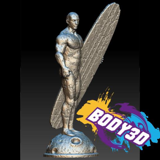Télécharger fichier 3D gratuit Silver Surfer Vintage, BODY3D