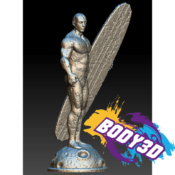 Download free 3D printing files Silver Surfer Vintage, BODY3D