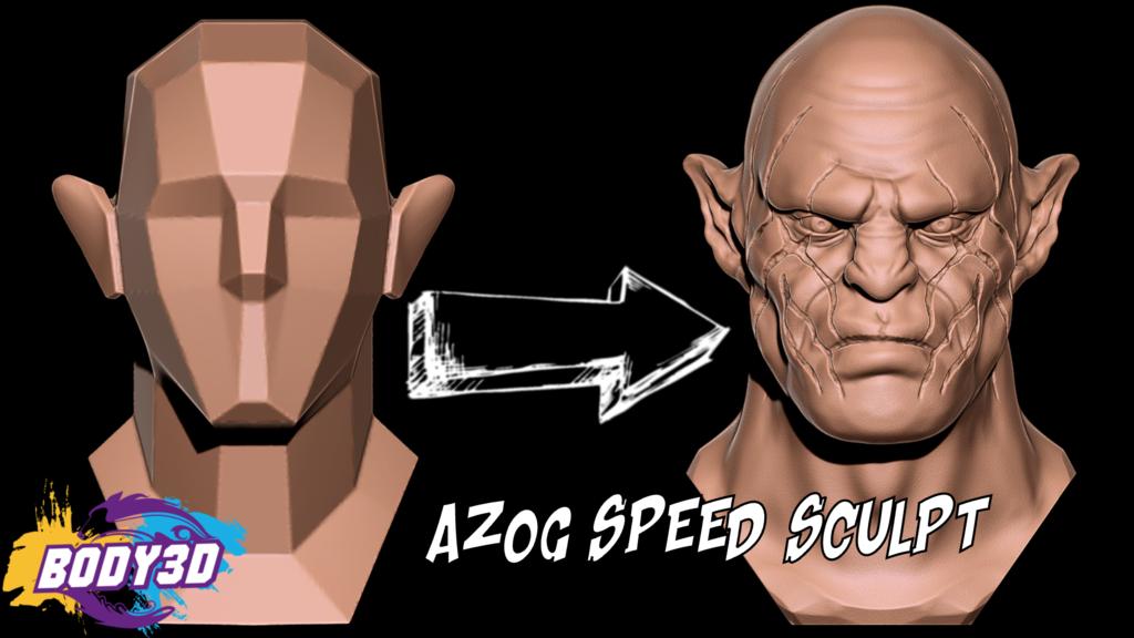 Mini_Azog.png Télécharger fichier STL gratuit Azog Bust - Le Hobbit • Design pour imprimante 3D, BODY3D