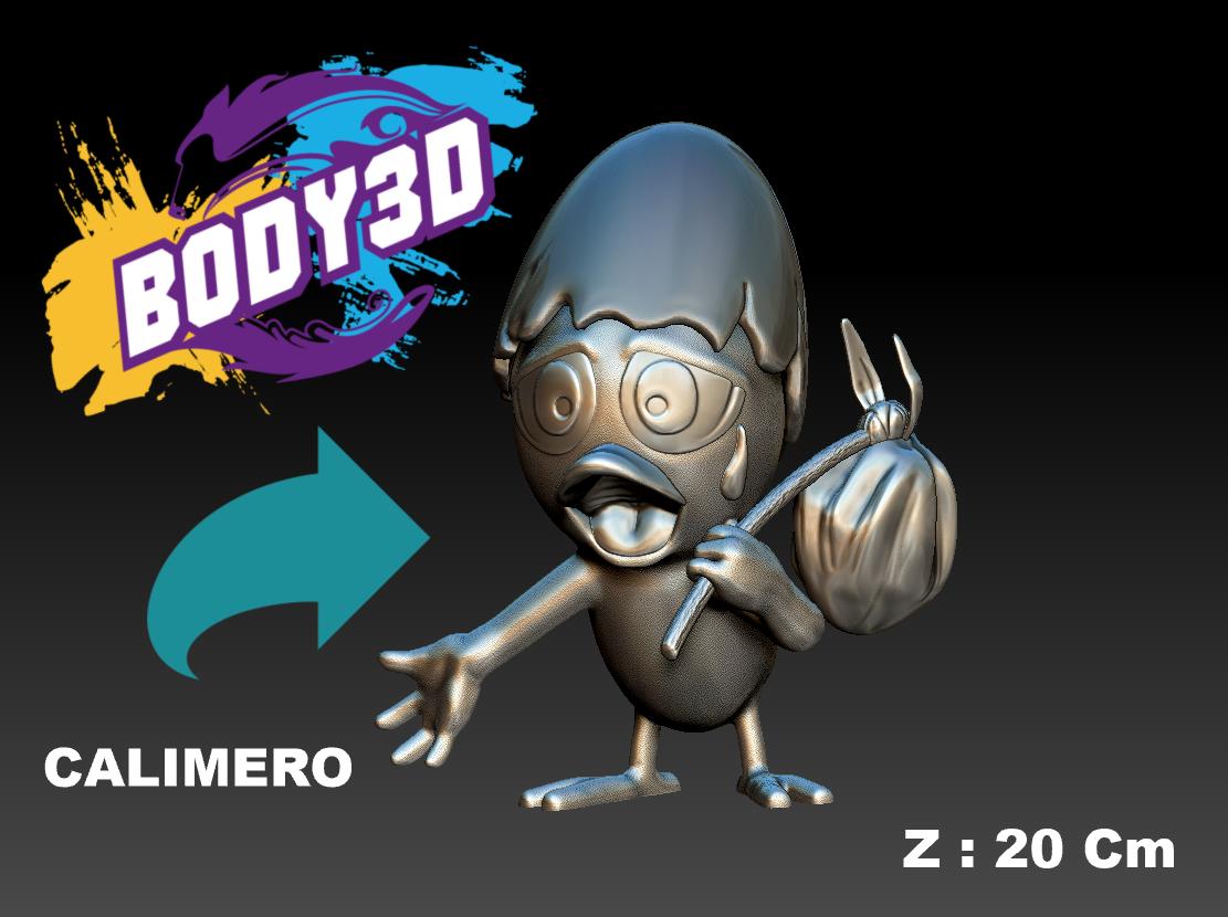 Model_1.PNG.png Télécharger fichier STL gratuit Calimero • Objet pour impression 3D, BODY3D