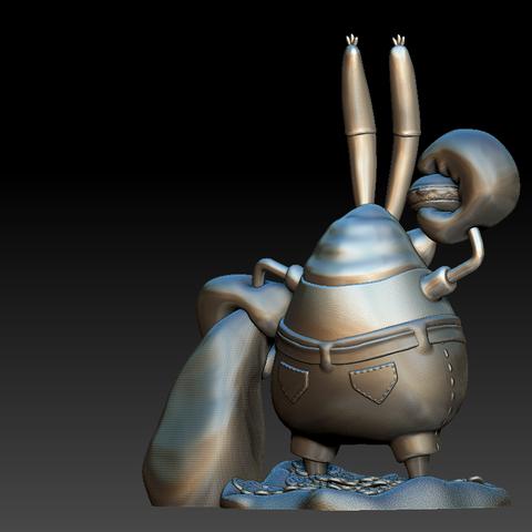 Model 3.PNG Download free STL file Mr. Krabs • 3D printable design, BODY3D