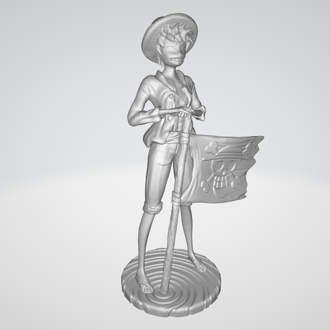 Model 1.PNG Download free STL file Monkey D Luffy • 3D printing object, BODY3D