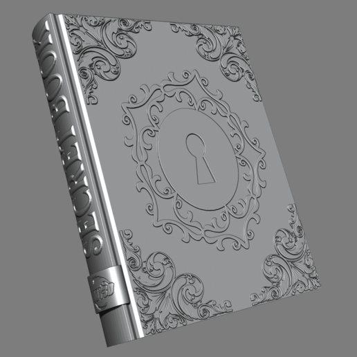 1.png Télécharger fichier STL gratuit Livre secret • Plan pour impression 3D, BODY3D