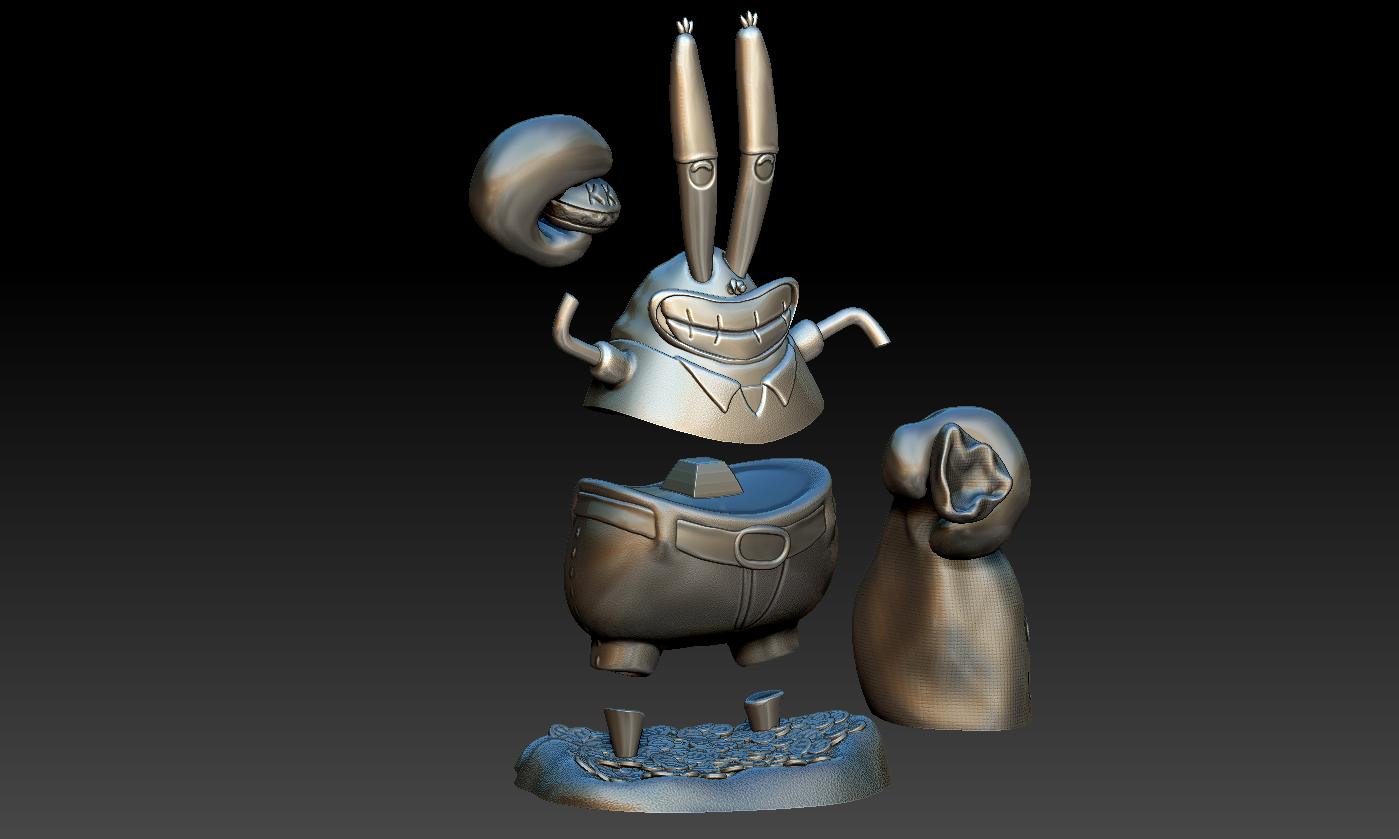 Décomposé 1.PNG Download free STL file Mr. Krabs • 3D printable design, BODY3D