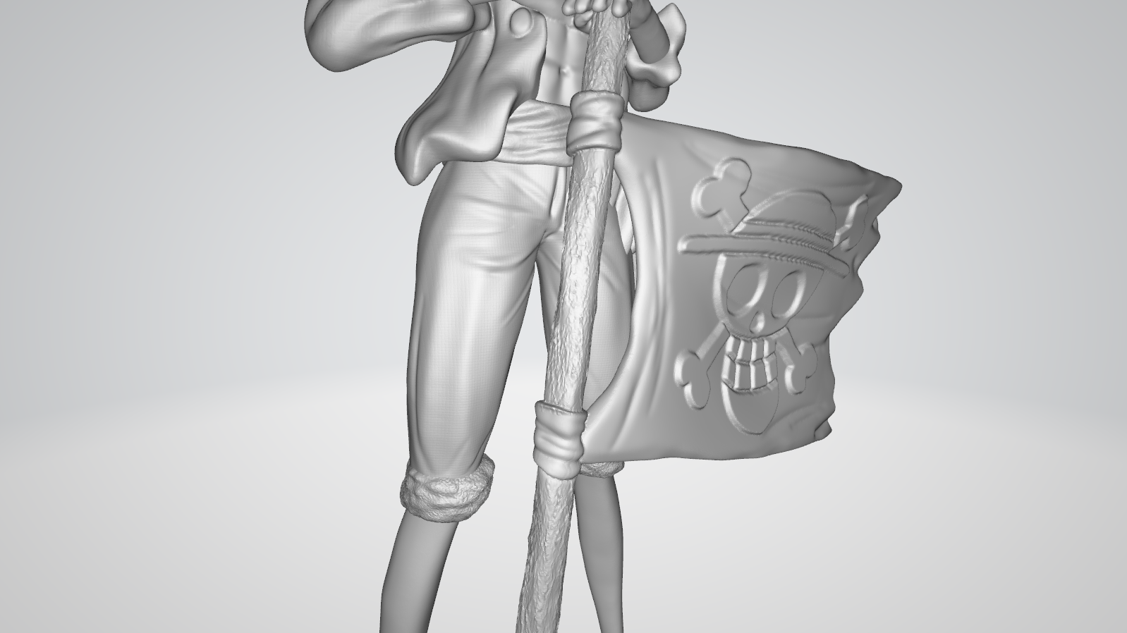 Model 4.PNG Download free STL file Monkey D Luffy • 3D printing object, BODY3D