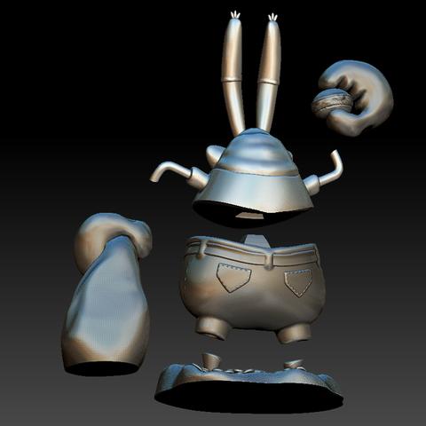 Décomposé 2.PNG Download free STL file Mr. Krabs • 3D printable design, BODY3D
