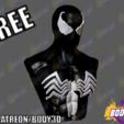 ven1.png Télécharger fichier STL gratuit Buste d'un Spiderman venimeux • Design pour imprimante 3D, BODY3D
