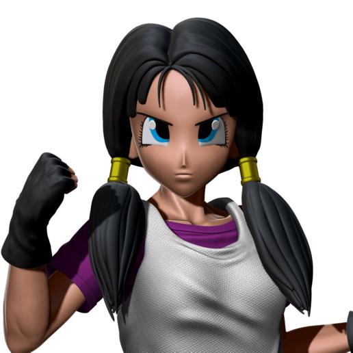 fsdqf.png Télécharger fichier STL Videl Bust - Dragon Ball  • Design pour imprimante 3D, BODY3D