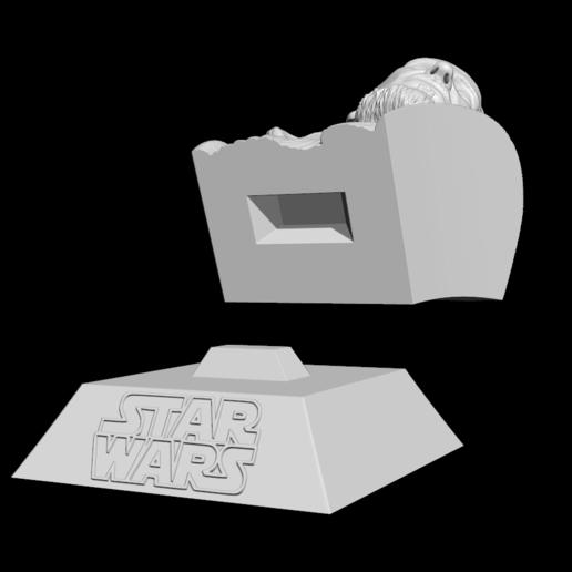 13.png Télécharger fichier STL Qui-Gon Jinn Bust • Objet pour imprimante 3D, BODY3D