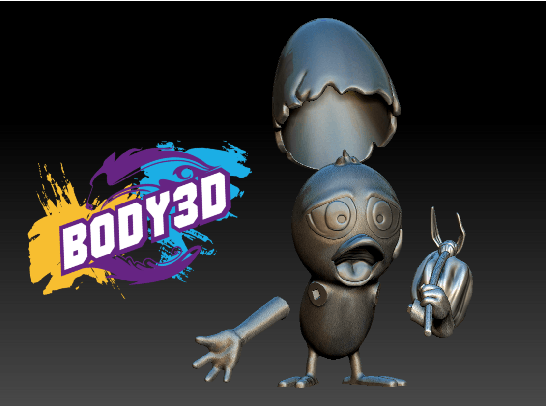 Décomposé 1.PNG.png Download free STL file Calimero • 3D printing template, BODY3D