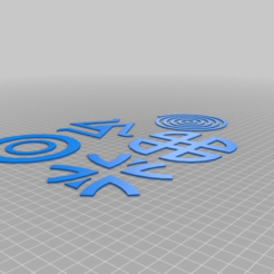 Download free STL files Teen Wolf Symbols, BODY3D