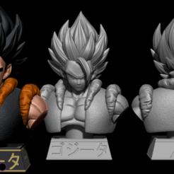 hdfgfdsgfdghfdgs.png Télécharger fichier STL Gogeta Bust 1-1 Scale - Dragon Ball • Objet à imprimer en 3D, BODY3D