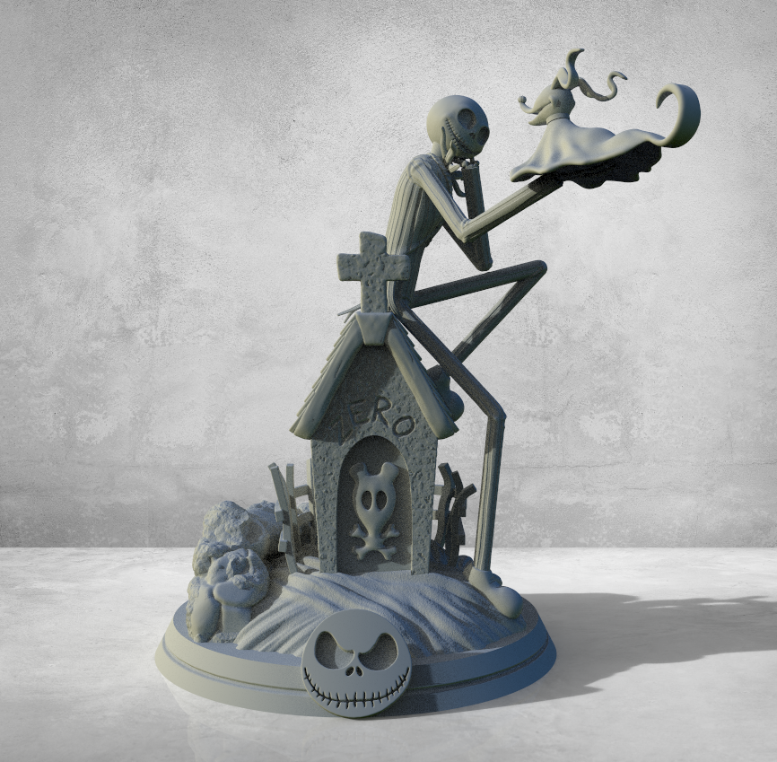 Annotation 2020-02-19 153927.png Télécharger fichier STL Jack Skellington And Zero - The Nightmare Before Christmas • Design pour impression 3D, BODY3D