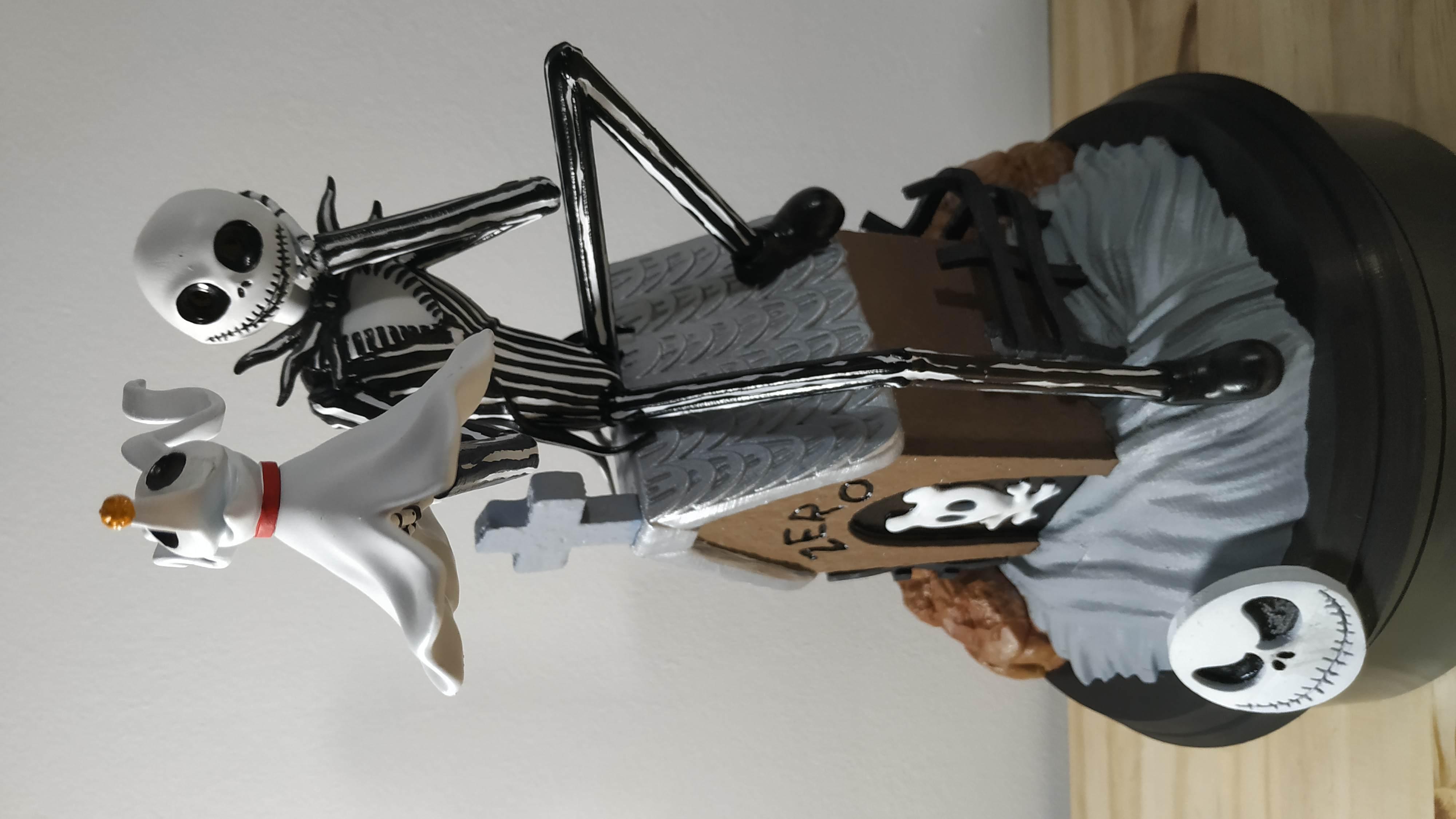 IMG_20200228_222738.jpg Télécharger fichier STL Jack Skellington And Zero - The Nightmare Before Christmas • Design pour impression 3D, BODY3D