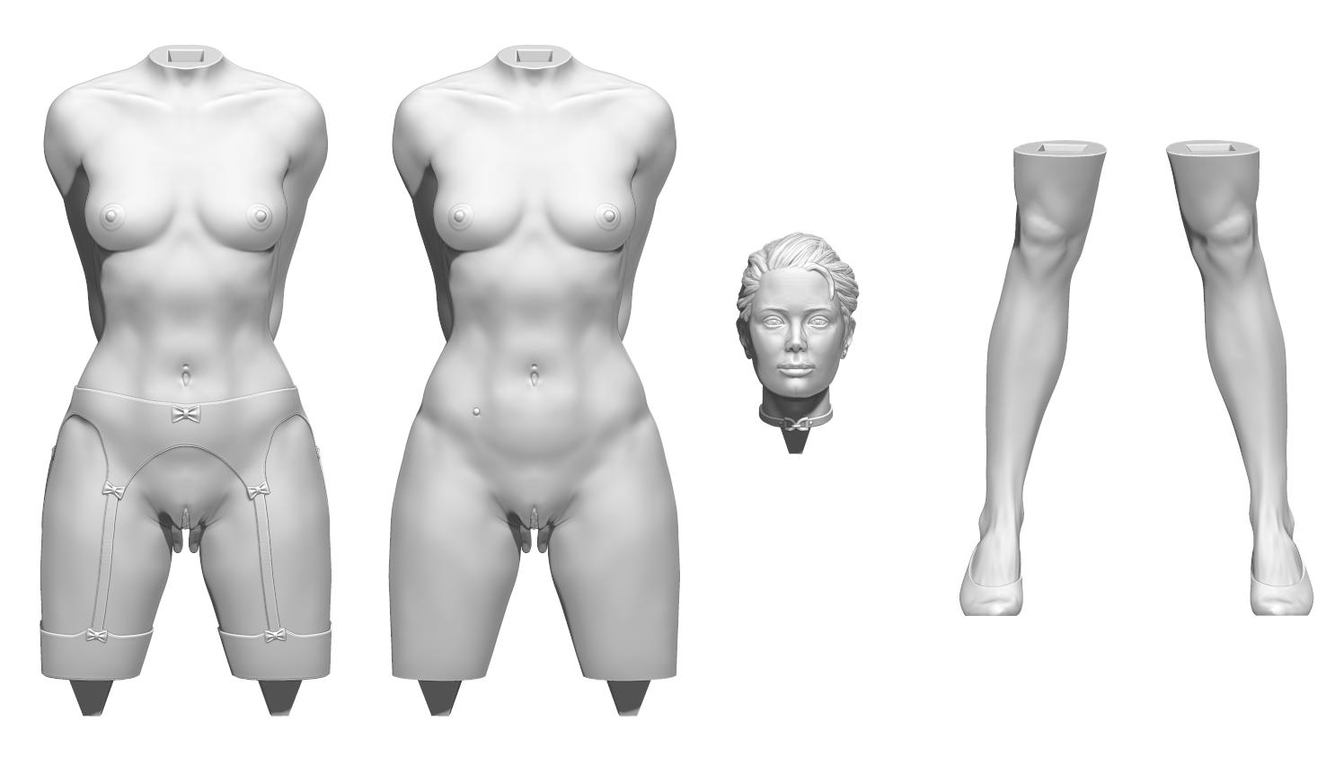 aaaaa.png Télécharger fichier STL Little Caprice Pose 2 • Objet imprimable en 3D, BODY3D