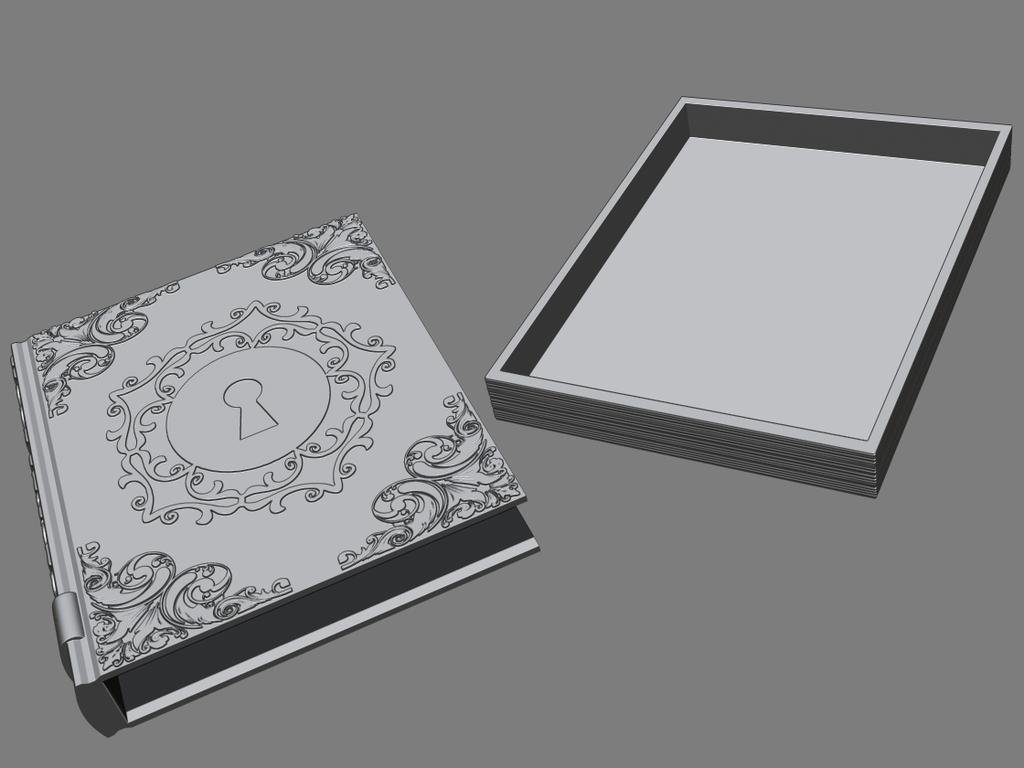4.png Télécharger fichier STL gratuit Livre secret • Plan pour impression 3D, BODY3D