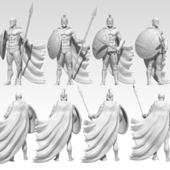 Render.png Download STL file Spartan 4 Miniatures - 35 mm • 3D print design, BODY3D