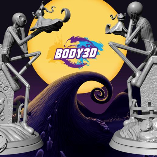 Vente 1 full.png Télécharger fichier STL Jack Skellington And Zero - The Nightmare Before Christmas • Design pour impression 3D, BODY3D