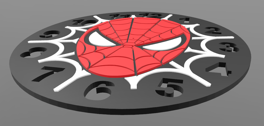 Spiderman_Clock_2.PNG Download free STL file Spiderman Clock • 3D print object, BODY3D
