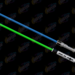 06.png Download free STL file Obiwan & Qui-Gon LightSabers • Template to 3D print, BODY3D