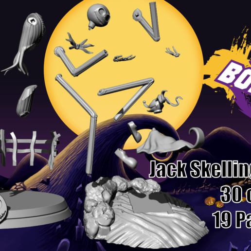 vente 2 full.png Télécharger fichier STL Jack Skellington And Zero - The Nightmare Before Christmas • Design pour impression 3D, BODY3D