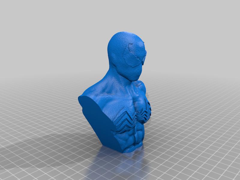 Spidey_Venomized_Bust.png Télécharger fichier STL gratuit Buste d'un Spiderman venimeux • Design pour imprimante 3D, BODY3D