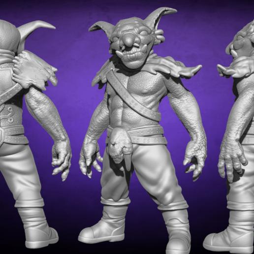 Simple x3.png Télécharger fichier STL Trunks the Goblin - 3 Models - 28 mm • Plan pour impression 3D, BODY3D