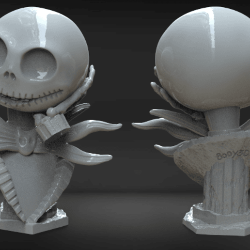 Annotation 2020-03-02 010329.png Télécharger fichier STL Jack Skellington Bust • Modèle pour imprimante 3D, BODY3D