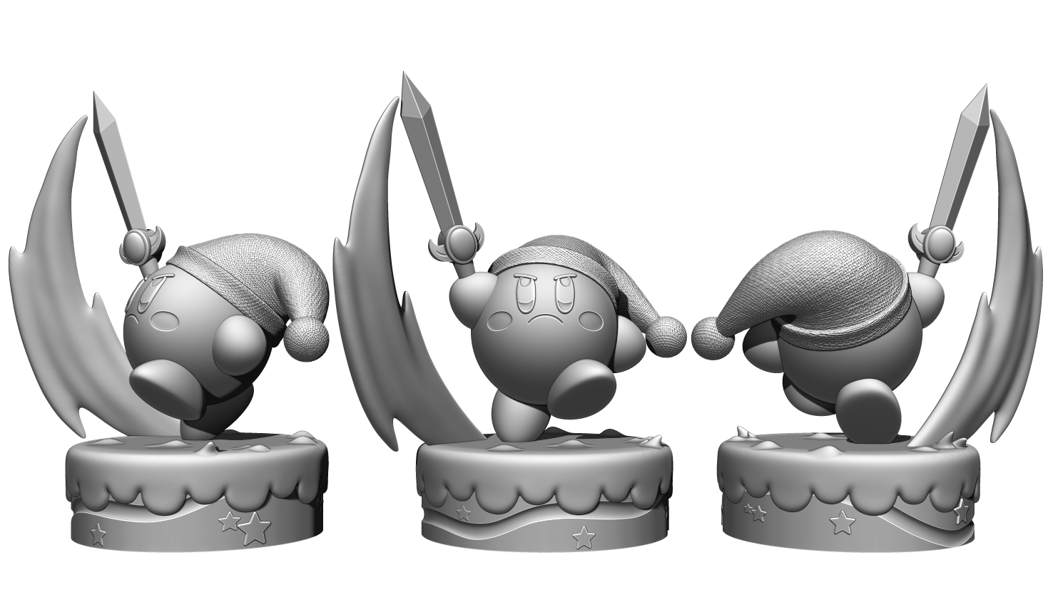 Render 2.png Télécharger fichier STL Kirby Link FanArt • Plan à imprimer en 3D, BODY3D