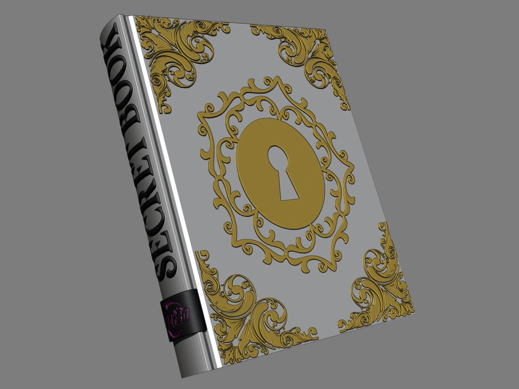 2.png Télécharger fichier STL gratuit Livre secret • Plan pour impression 3D, BODY3D