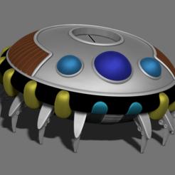 da.png Télécharger fichier STL Frieza Spaceship • Modèle pour imprimante 3D, BODY3D