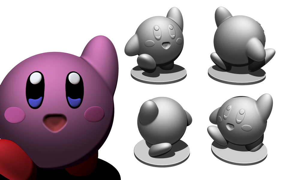 Kirby_V2.png Télécharger fichier STL gratuit Kirby V2 • Plan pour imprimante 3D, BODY3D
