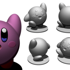 Kirby_V2.png Download free STL file Kirby V2 • 3D printer model, BODY3D