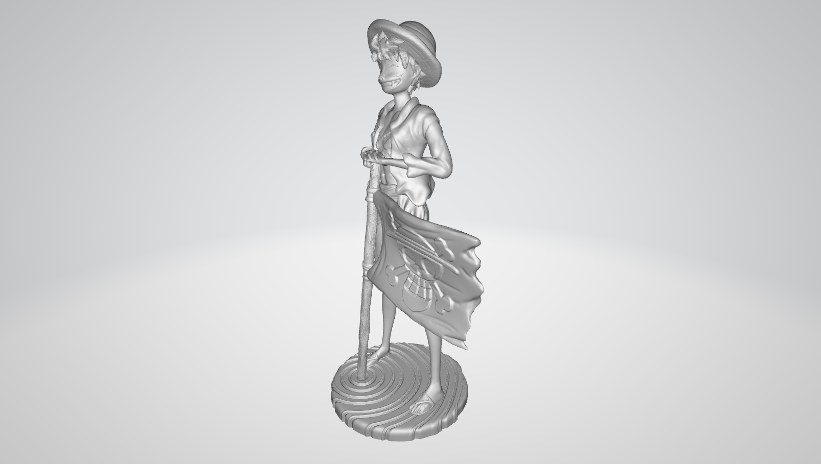 Model 2.PNG Download free STL file Monkey D Luffy • 3D printing object, BODY3D