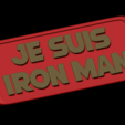 Download free STL file Je suis iron man plaque • Object to 3D print, BODY3D