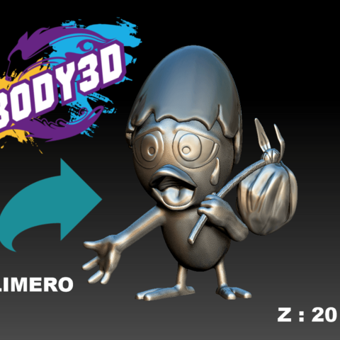 Download free 3D model Calimero, BODY3D