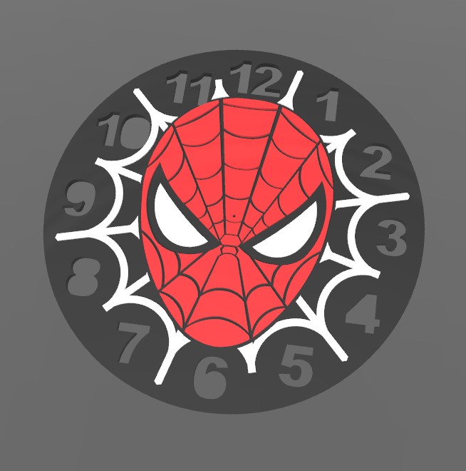 Spiderman_Clock.PNG Download free STL file Spiderman Clock • 3D print object, BODY3D