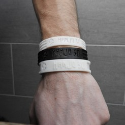 DSCN0322.JPG Download free STL file Bracelet ThermoForm Customizable • Object to 3D print, BODY3D