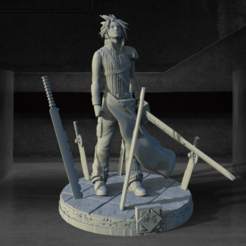 Download STL file Cloud Strife - Final Fantasy VII Advent Children • 3D print model, BODY3D