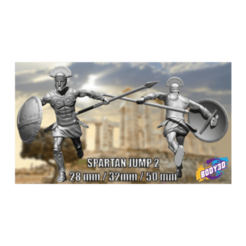 hfghfghgfhfgh.png Download free STL file Spartans jump - Miniature 28mm 35mm 50mm • 3D printing template, BODY3D
