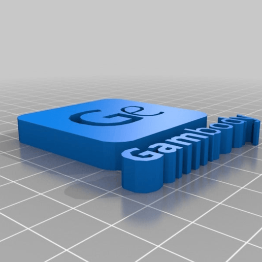 Download free 3D printer model GamBody Logo, BODY3D