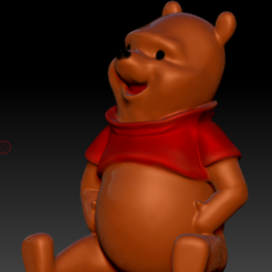 Download free 3D printer templates Winnie the pooh HD ( No supports ), BODY3D