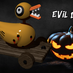 gdfsgdg.png Download STL file Evil Duck - Nightmare Before Christmas • 3D print model, BODY3D