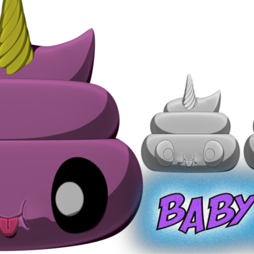 1.png Télécharger fichier STL gratuit Caca de bébé • Objet pour imprimante 3D, BODY3D