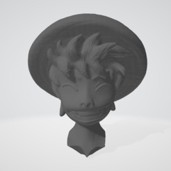 Download free STL file Luffy Head - One Piece • 3D printing object, BODY3D