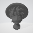 Tête.PNG Download free STL file Luffy Head - One Piece • 3D printing object, BODY3D