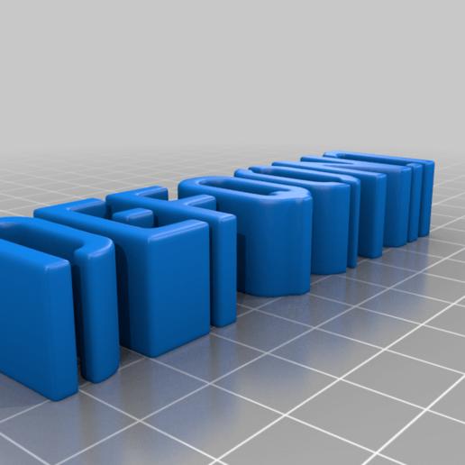 defqon_ecrit.png Download free STL file DEFQON LOGO • 3D printing model, BODY3D