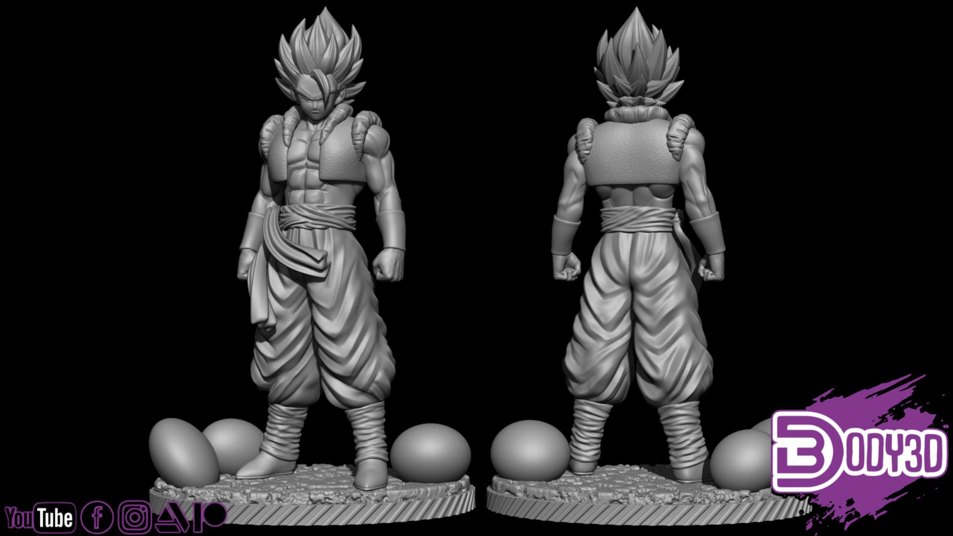gdfsgdsgdfg.png Télécharger fichier STL Gogeta Static Pose 1-6 Scale - Dragon Ball • Design pour imprimante 3D, BODY3D